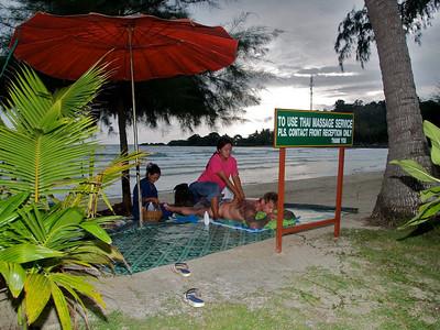Massage on beach Kho Chang, Thailand