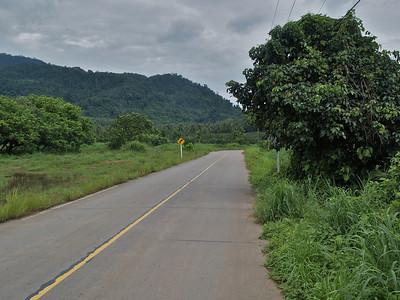 Main road around island