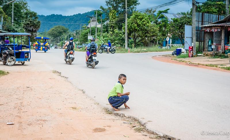 Sprinting  Across the Street