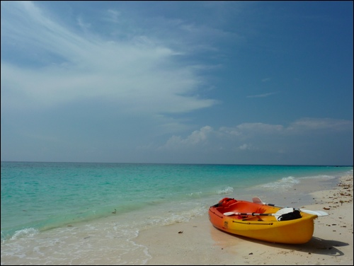 Kayak on Koh Rok