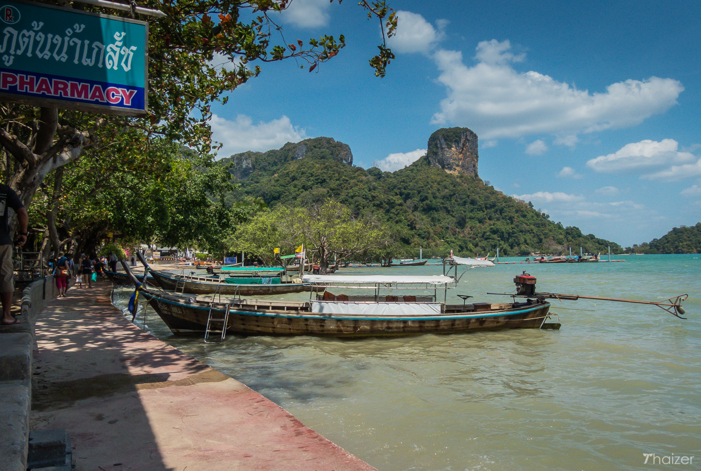 East Railay Beach at high tide