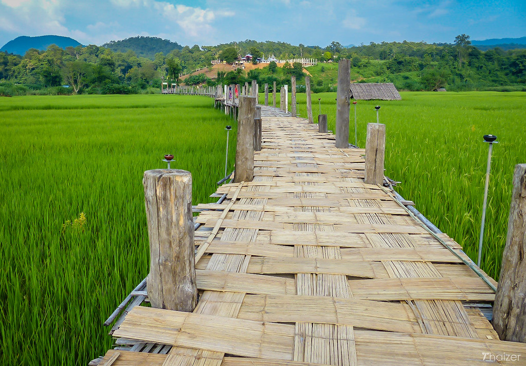 bamboo bridge, Mae Hong Son