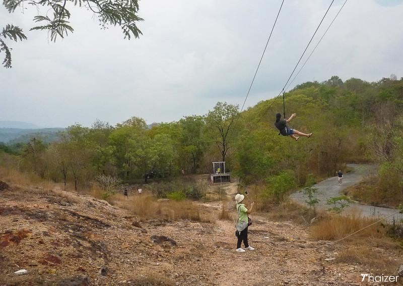 ziplining in Nakhon Nayok
