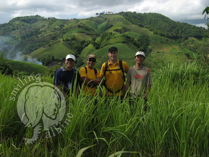 SA Team members: Kai, Nee, Scott & Sa-ngiam hiking in Doi Mae Salong.