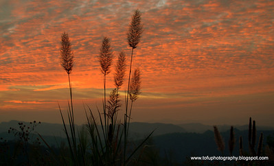 Sunset in Mae Hong Son district - December 2009