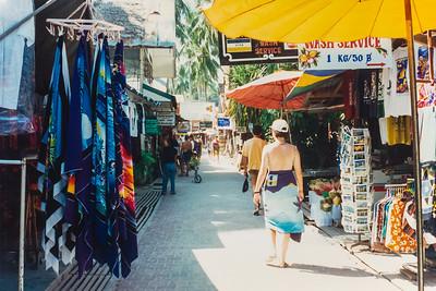 Main Street Phi Phi Island in 1996