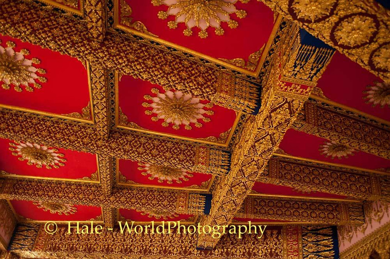 Red Motif Ceiling