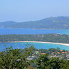 A view of Kata beach from the hills above it.