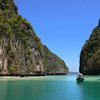 Pi Leh Bay. Tour operators from Phuket tend to use speedboats, while the ones from Krabi tend to use traditional long-tailed boats.