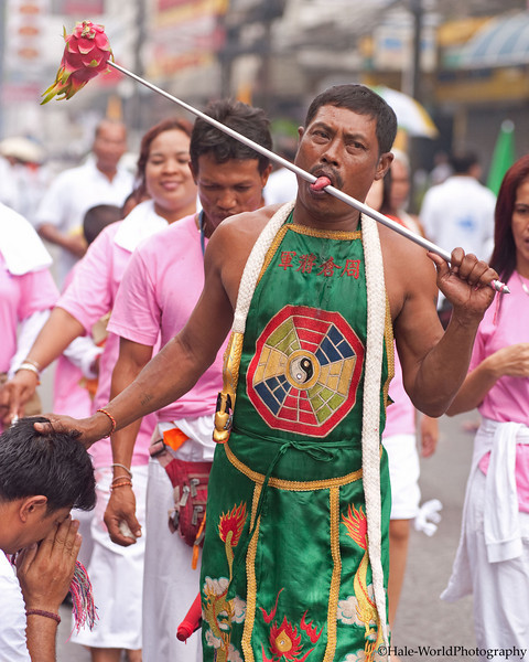 Ma Song Participates In Morning Procession Through Phuket Town
