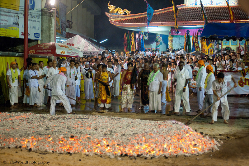 Ma Song Prepares to Fire Walk at Ban Neouw Shrine