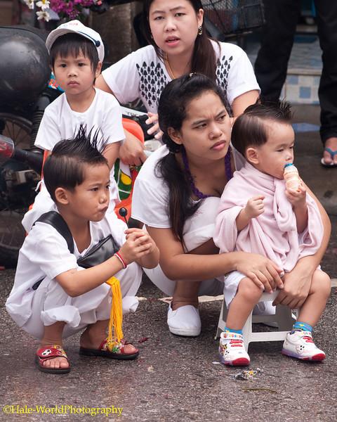 Spectators At Morning Procession
