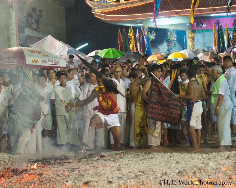 Ma Song Fire Walks at Ban Neouw Shrine
