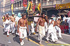 Devotees from Ban Neow Shrine Parade Through Phuket Town Carrying One of Their Idols