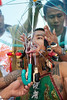 A Bang Neow Shrine Ma Song Prepares for Morning Procession Through Phuket Town