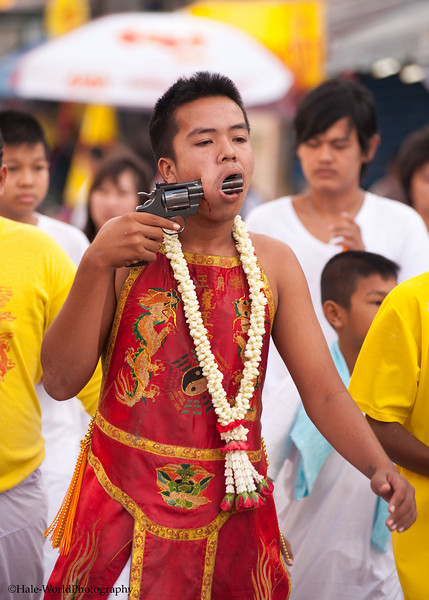 A Bang Neow Shrine Ma Song Participates In Morning Procession Through Phuket Town