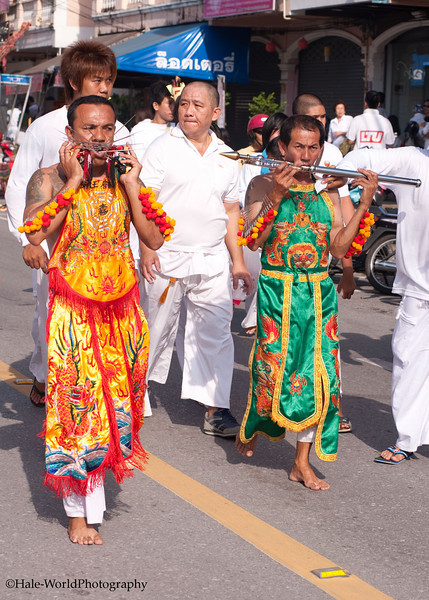 Bang Neow Shrine Ma Song Participate In Morning Procession Through Phuket Town