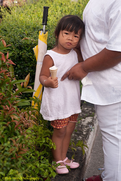 A Young Spectator in Phuket Town