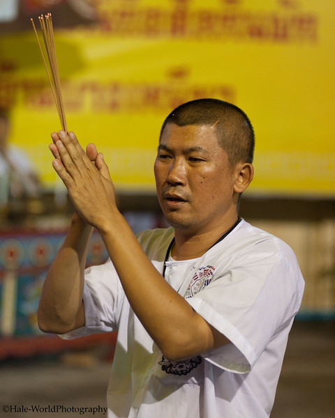 A Ma Song Prepares to Fire Walk at Ban Neouw Shrine