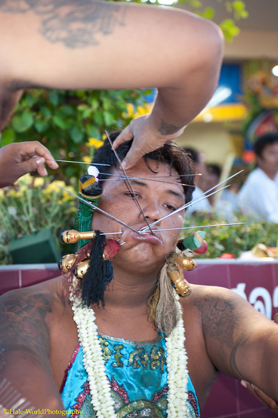 Bang Neow Shrine Ma Song Prepares to Participate In Morning Procession Through Phuket Town