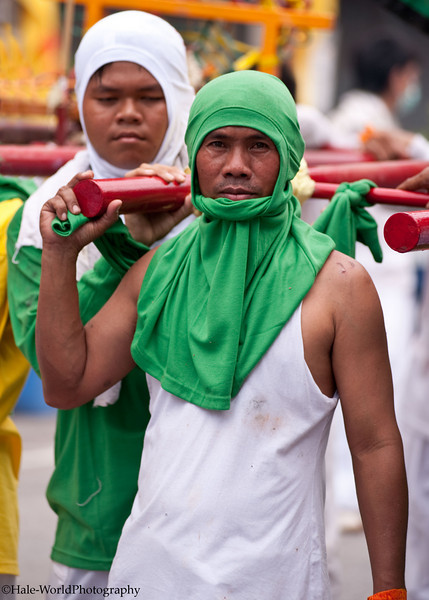 Devotees Bearing One of their Shrine's Idols