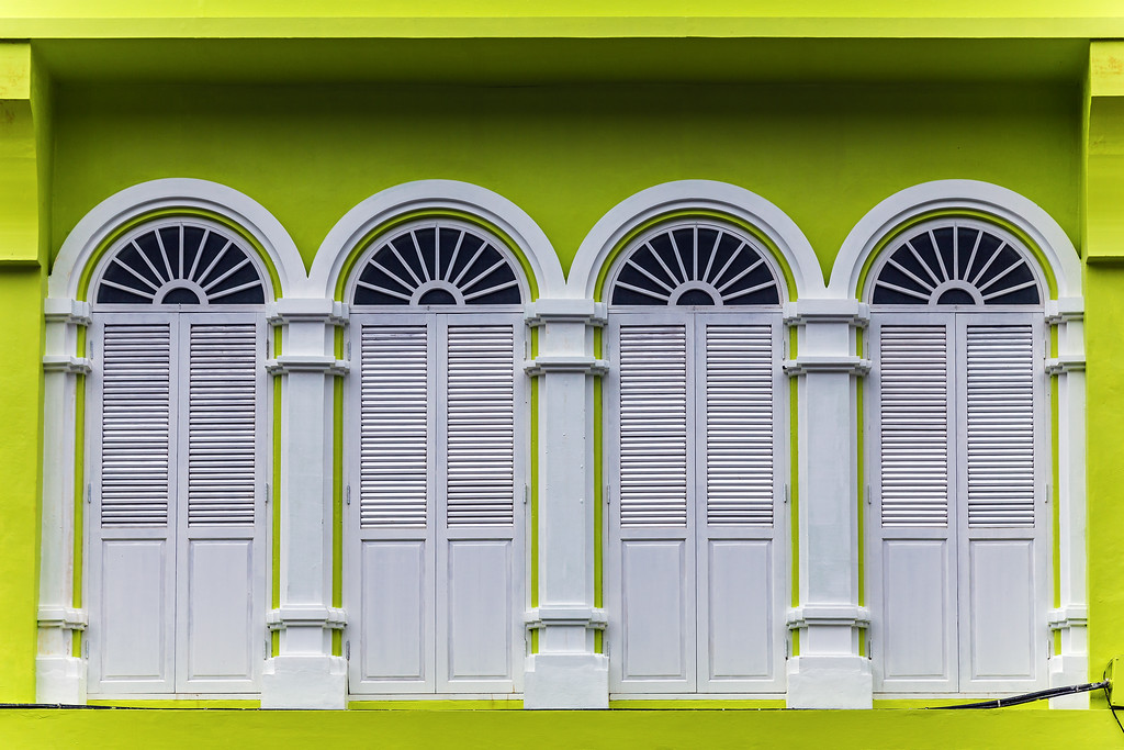 A Bright and Colourful Sino-Portuguese Building in Old Phuket Town<br /> Thalang Rd, Old Phuket Town