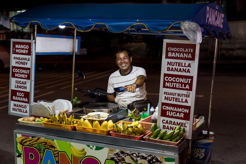 The Pancake Man<br /> Patong Beach, Thailand