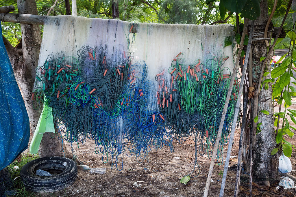 Fishing nets on Rawai Beach