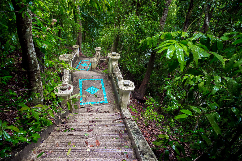 Steps Leading to Kathu Waterfall (looking back)