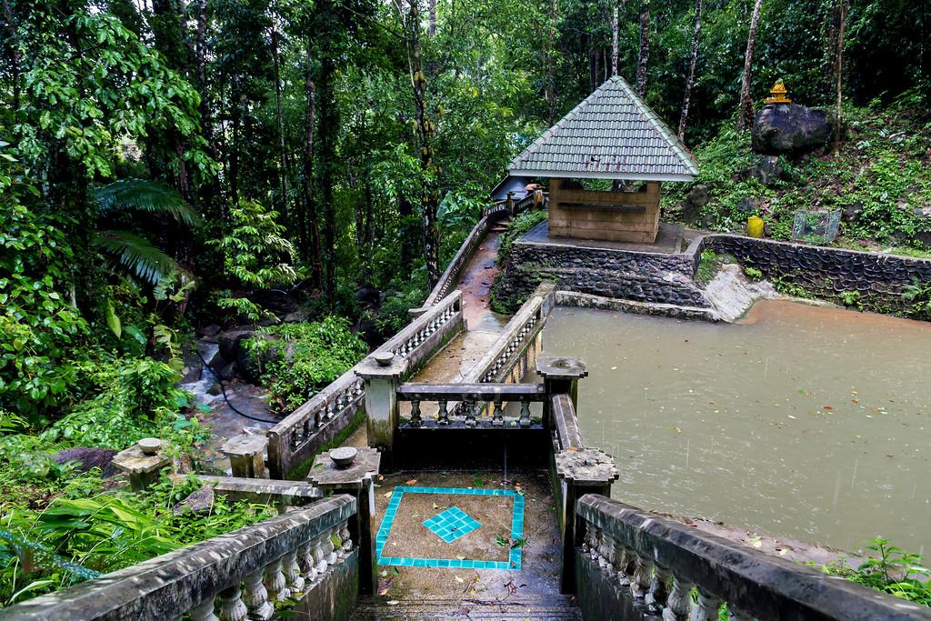 Pool at Kathu Falls (raining)