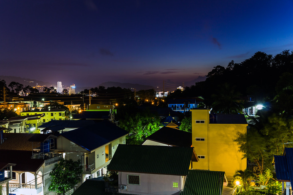 View from the Poo Nurntong Restaurant, Patong Hill
