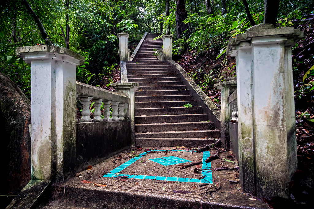 Steps Leading to Kathu Waterfall