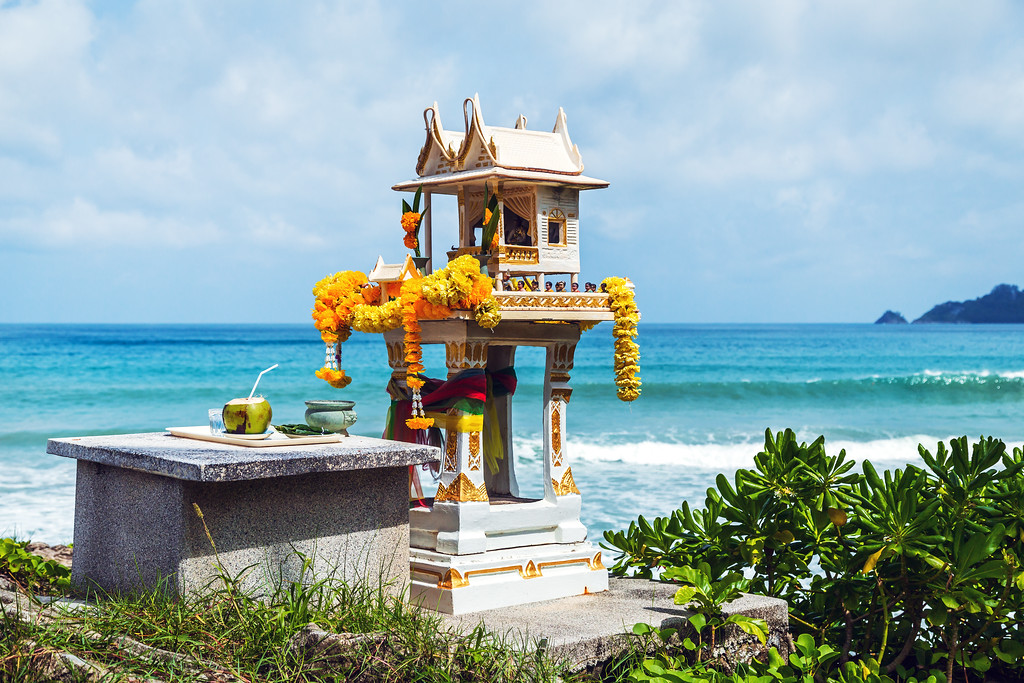 A Spirit House  on North Patong Headland