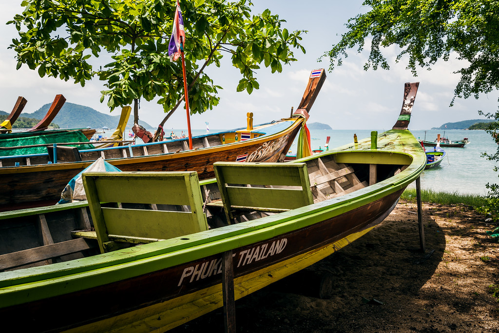 Longtail Fishing Boats on Rawai Beach