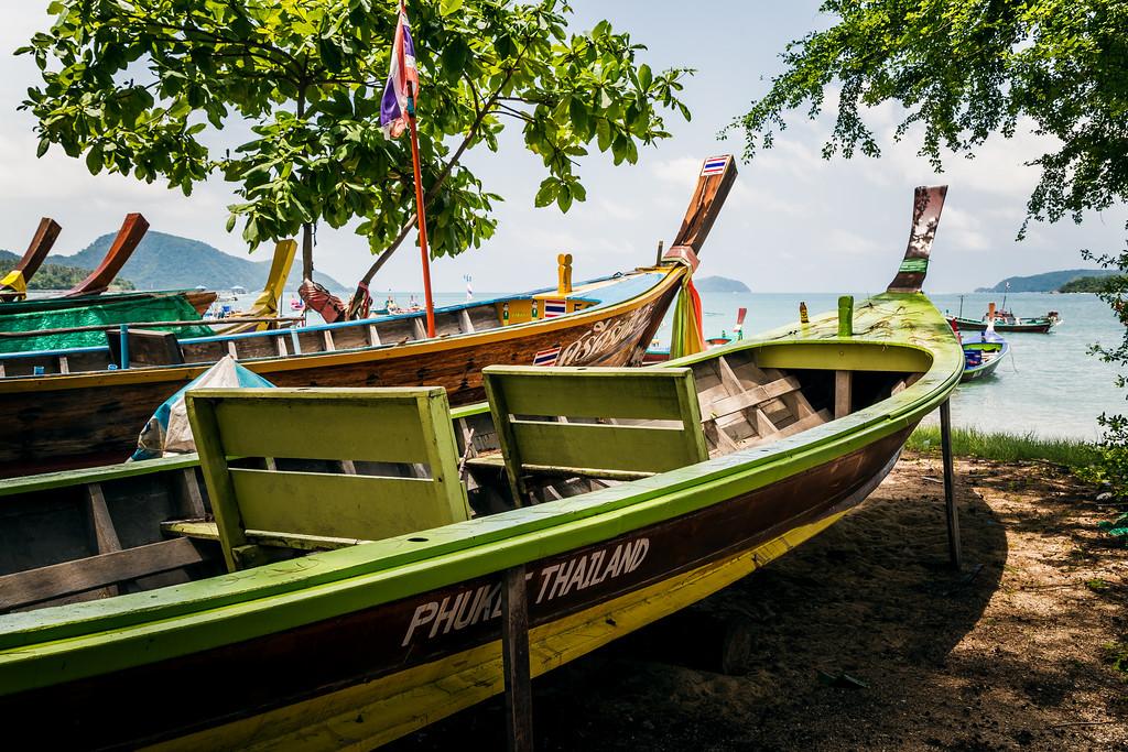 Longtail Fishing Boats on Rawai Beach