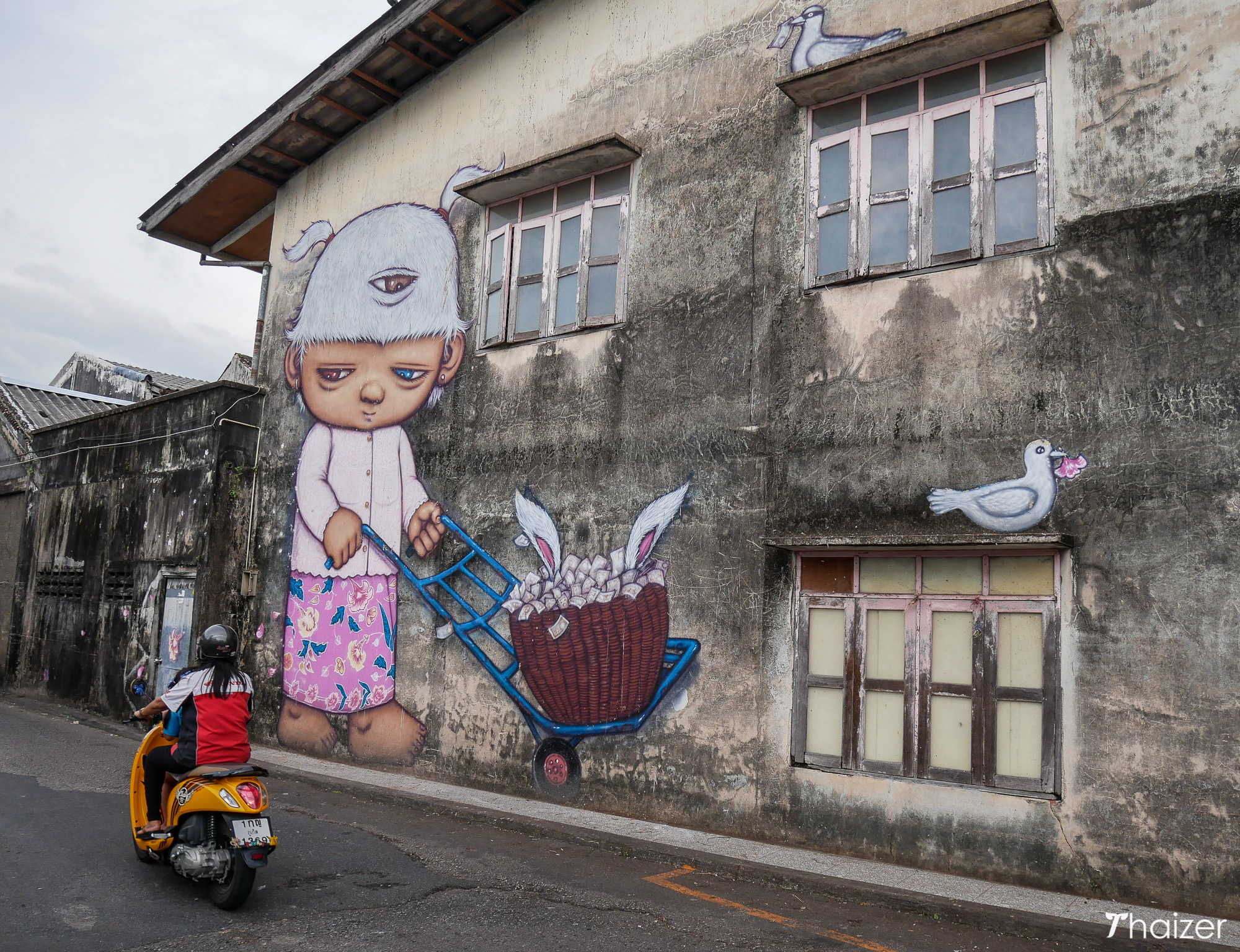Breakfast by Alex Face, Phuket artwork at Downtown Market