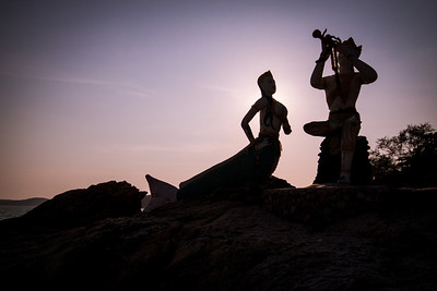 Deva statues on Koh Samet island in Thailand.