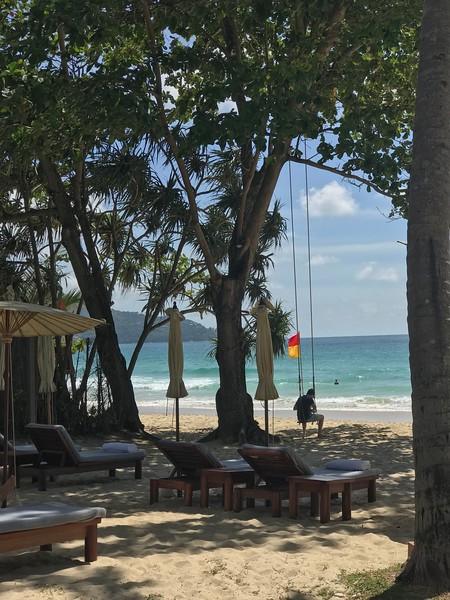 Swing on Amanpuri main beach