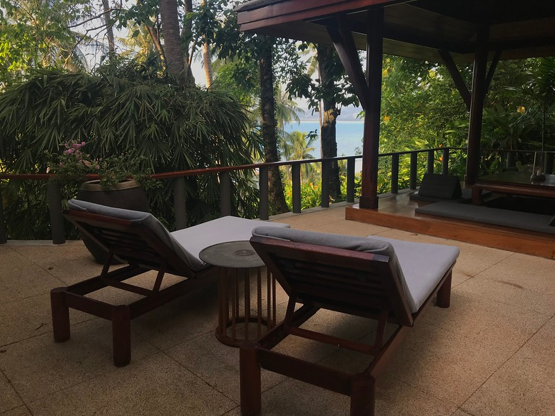 This is the view from a Partial Oceanview Pavillion, Amanpuri