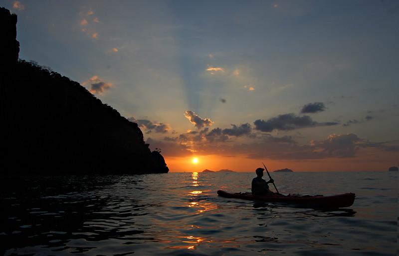 John Gray, sea canoe, Bannikin, Sunset, glamping