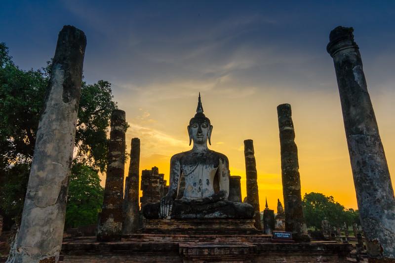 Sunset at Wat Mahatat