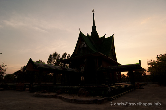 Night Falls at  Temple Of A Million Beer Bottles, Wat Lan Khaud, Sisaket