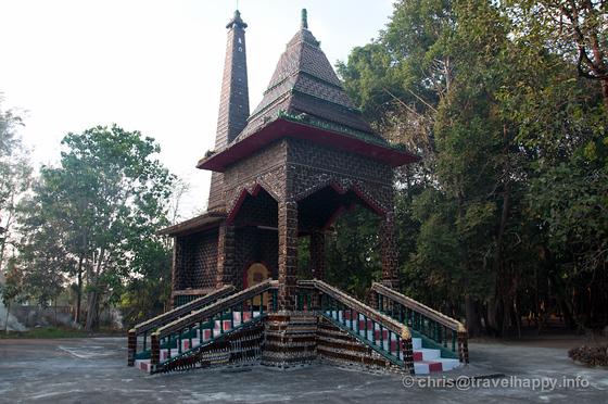 Crematorium at Temple Of A Million Beer Bottles, Wat Lan Khaud, Sisaket