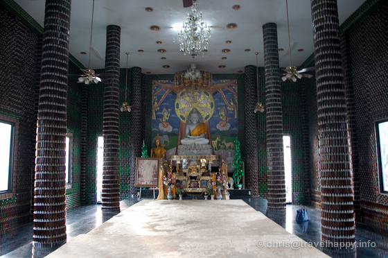 Temple Interior, Temple Of A Million Beer Bottles, Wat Lan Khaud, Sisaket