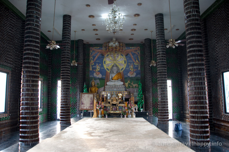 Temple Interior, Temple Of A Million Beer Bottles, Wat Lan Khaud, Sisaket