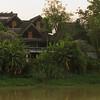 Riverbank near Old Iron Bridge crossing the River Ping, Chiang Mai