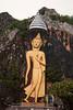 Giant Buddha on a mountainside outside Bangkok in October 2008