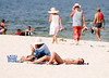 Having a massage at the beach in Hua Hin, October 2008