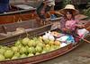 Vendor at the Damnoensaduak Floating Market outside Bangkok in October 2008