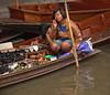 Woman at the Damnoensaduak Floating Market outside Bangkok in October 2008